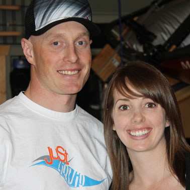 Brother and sister Rob and Krystal Porter of Just Liquid Sports