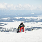 Photo of a guy with his kids at Kimberley Alpine Resort