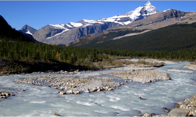 Photo of mountains and stream
