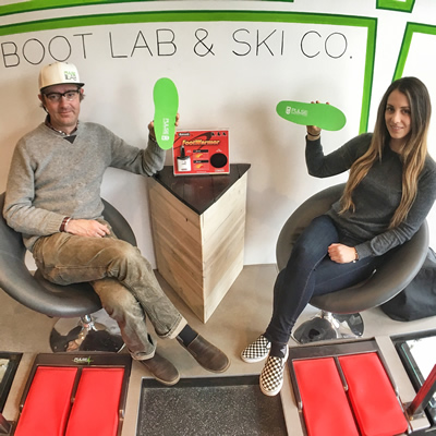 Kai Palkeinen and Kelly Hutcheson are owner-operators of Pulse Boot Lab & Ski Co. in Revelstoke, B.C.