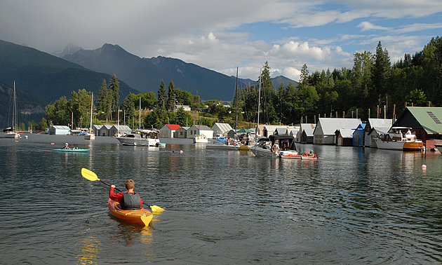 Kaslo is set on the shore of Kootenay Lake.