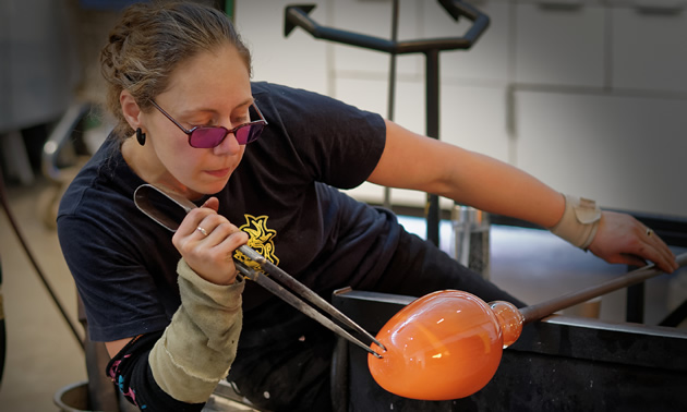 Katherine Russell is a world traveler and glass artist who lives in Elkford, B.C.