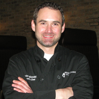 In November 2015, Kevin McDonald became the executive chef at the West Coast Grill in Cranbrook's Prestige Rocky Mountain Resort.