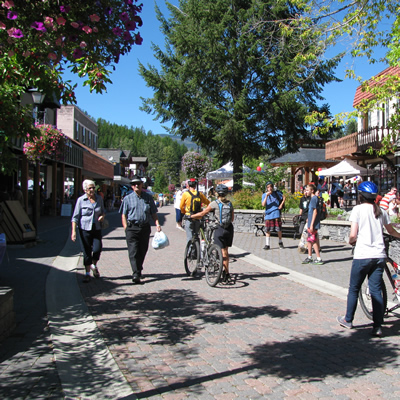 t's a pleasure to spend time on the Platzl, Kimberley's European-style pedestrian mall.