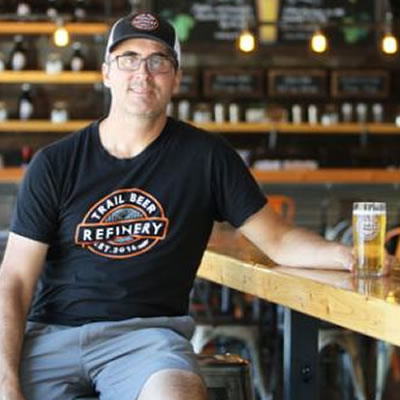 Selkirk College Business Administration Program Instructor Mike Konkin is the impetus behind the Trail Beer Refinery that has found tremendous success and community support in its first few months of operation.
