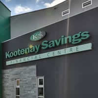 Exterior of Kootenay Savings Credit Union