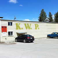 Exterior of Kootenay Wood Preserves building in Cranbrook BC