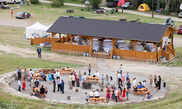 Legacy Hall is a new multi-use facility at Lakeshore Resort and Campground at Lake Windermere, B.C.
