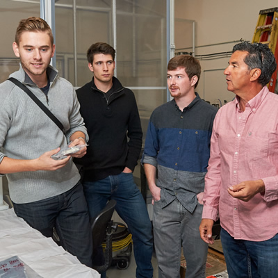At the MIDAS lab, engineering and business students from the University of British Columbia Okanagan learn and improve the art of crystal pulling with Don Freschi, Chief Executive Officer of Fenix Advanced Materials.