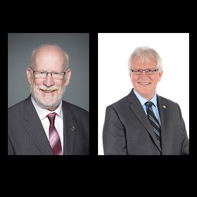 (L) MP Richard Cannings (South Okanagan-West Kootenay) and MP Wayne Stetski (Kootenay-Columbia)