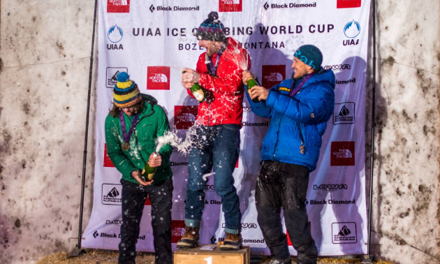 At the UIAA Ice Climbing World Cup, Gordon McArthur placed first, Nathan Kutcher second and Noah Beek third.