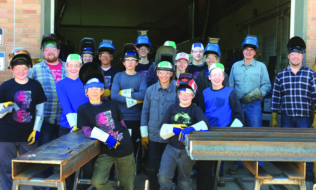 College of the Rockies' Mind Over Metal Camp participants.