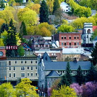 The picturesque city of Nelson, B.C., is built on a hill.