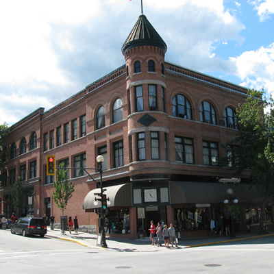 The architecture in downtown Nelson, B.C., contributes much to the city's appeal.