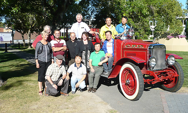 Wonju-si South Korea  city pictures gallery : Six visitors from the South Korean city of Wonju pose with Cranbrook's ...