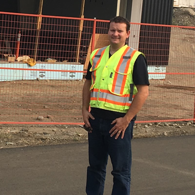 Robert Baker, manager of the Trail airport, looks forward to completion of a brand new terminal building and an upgraded runway.
