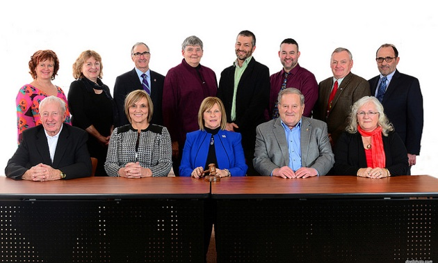 The 2016 board of directors of the Regional District of Kootenay Boundary