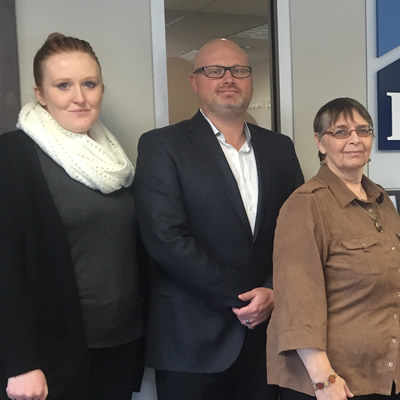Gene Cooper (second from left) with staff members at the Cranbrook branch of RHC Insurance, which opened its doors on July 18, 2016. (L to R): Jennifer Flint, Gene Cooper, Wendy Tito, Lindsay Munro, Kristin Stypula and Mike McCormack. Missing: Nicole John