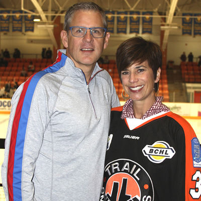 Rich and Annie Murphy are the owners of the Trail Smoke Eaters Hockey Club.