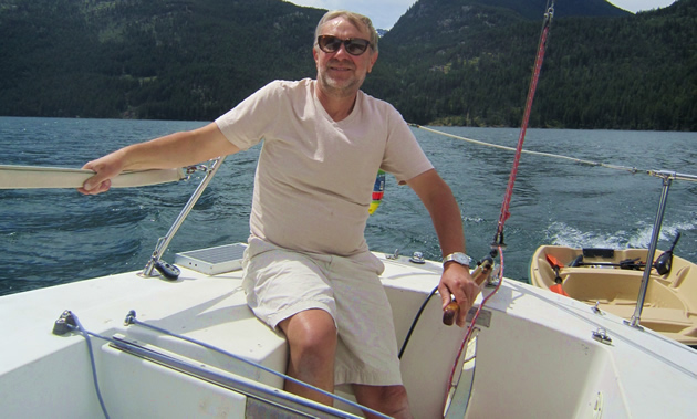Cezary Ksiazek, owner of Rossland Builder, indulges his longtime love of sailing.