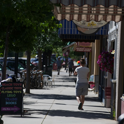 Rossland's merchants work to keep the downtown area pretty and inviting.