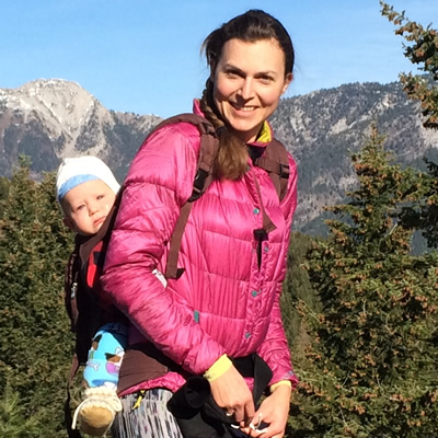 Sarina Beran loves her active, outdoors lifestyle in Sparwood, B.C.
