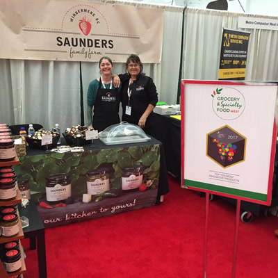 Windermere's Saunders Family Farm members at the Grocery & Speciality Food West exhibition.