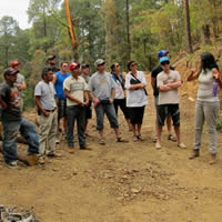 Group photo of Selkirk forestry students in Southern Mexico learning about the area's forests