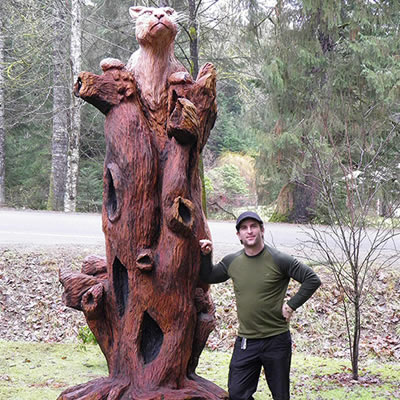 One of the courses features chainsaw Vancouver Island artist Kevin Lewis who will spend three days teaching skills on the Tenth Street Campus.