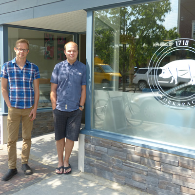 Nathan Troxel and Lee Tengum own and operate a small business in Cranbrook, B.C.