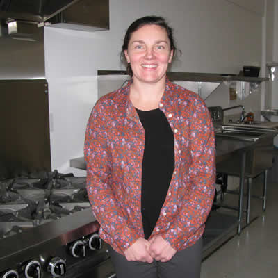 Sophie Larsen, co-ordinator of Cranbrook's Farm Kitchen, is shown here in the shared-space commercial kitchen