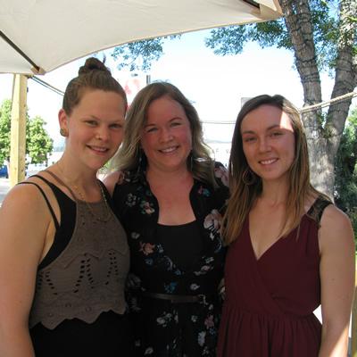 Caitlin Berkheim, Tamara Mercandelli and Christel Hagn of Soulfood restaurant hosted a
