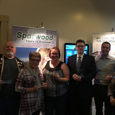 The 2016 Business Excellence Awards in Sparwood were presented on October 26