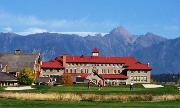 A scenic view of the St. Eugene Golf Resort and Casino.