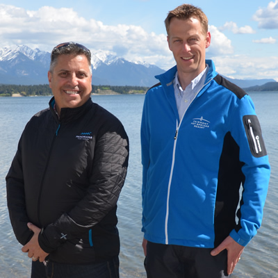 Steve Paccagnan (L) and Pascal Van Dijk are president and CEO of Panorama Mountain Resort and Fairmont Hot Springs Resort respectively.