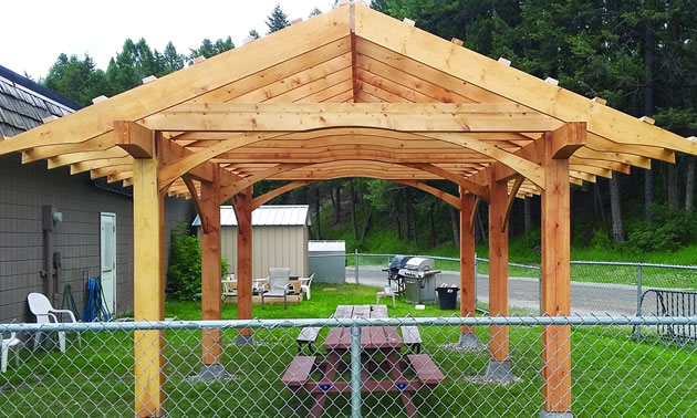 The new gazebo at Street Angels in Cranbrook, adjacent to the skate park.