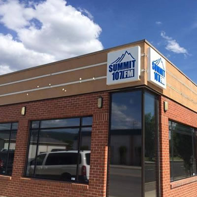 Picture of the outside of Summit 107 FM, Cranbrook's new radio station.