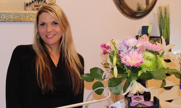 Suzie LaRose of Suzie's Designer Nails is a young entrepreneur in Castlegar, B.C.