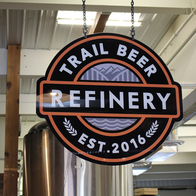 Trail Beer Refinery opened on March 25, 2017. It is Trail's first craft beer producer.