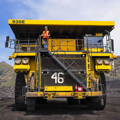 Picture of large mining truck.
