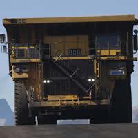 Mining dump truck at Green Hills