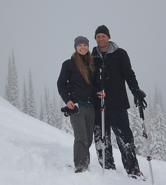 Trent Mason enjoys the outdoor paradise of the Kootenays with his wife, Emily Chambers.