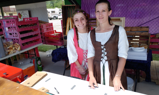 Kimberley City Bakery employees dressed for the occasion and kept festival-goers well fed.