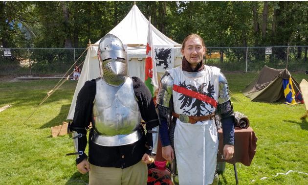 """If you're trying to get into an armour kit for yourself you're probably looking at $2,500. A proper kit would be $3,000 to $5,000. It takes a good five days to make a kit if you go 24/7. Most of our swords come in from the Czech Republic and Hungary."""