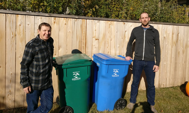 Parker Vaile (L) and Jordan Peterson (R) are owner-operators of VP Waste Solutions in Golden, B.C.