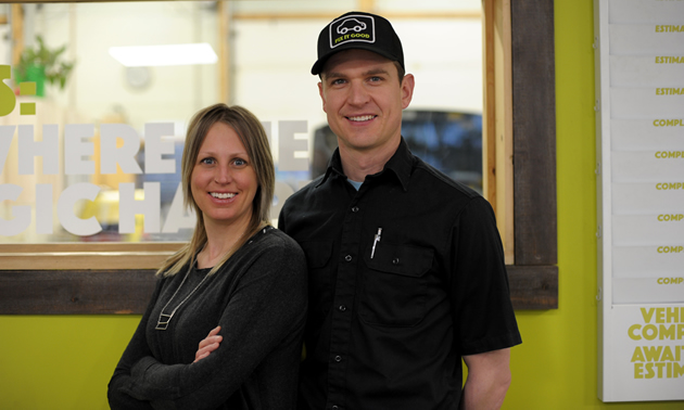 Stephanie and Aaron Van de Kemp opened Cleanline Automotive in Invermere in 2013.