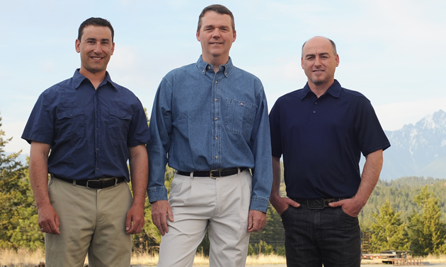 The owners of VAST Resource Solutions are (L to R) Evan Kleindienst, David Struthers and Shawn Vokey.