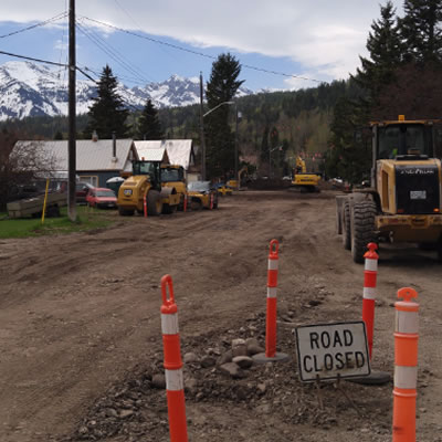 West Fernie restructure work as been ongoing. This is a picture of Phase 1 completed last year.