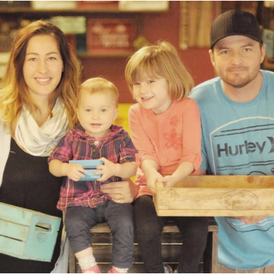 A family business: Jessica, Briley Hailey and Chad Woshall of Kootenay Crates in Creston BC.