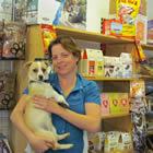 Maren Esch and her dog Rebel at Barkside Pets.